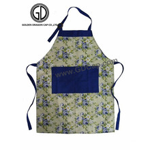 New Style Beautiful Pattern Kitchen Cooking Apron with Big Pocket