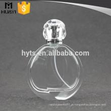 Frasco de vidro vazio do perfume 100ml redondo com pulverizador