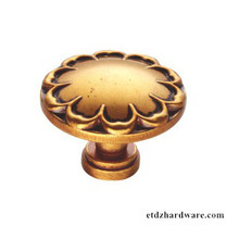Classic Furniture Hardware Around Shape Flower Drawer Knobs And Pulls
