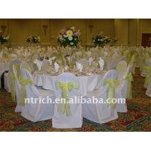 Couverture de chaise de banquet standard, CT054 polyester matière, durable et facile lavable
