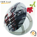 High Quality Wedding Gift Butterfly Folding Round Pocket Mirror