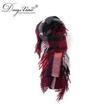 Fabrik-Gewohnheit 155 * 30 + 10 * 2Cm Frauen Verpackungen und Schals Günstige 100Cashmere Winter Schal