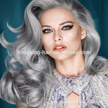 Gray Color Human Material Fashionable Hair Weaving Highly Feedback Extension Type Remy Hair