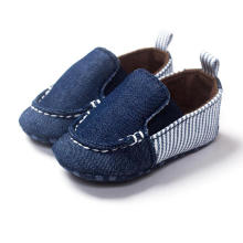 Mocassins Toddler Infantil Moda Denim Soft Sole Sapatos de Bebê