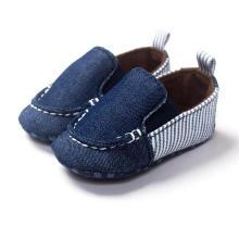 Младенческая Малышей Мокасины Модные Джинсовые Мягкой Подошвой Детская Обувь