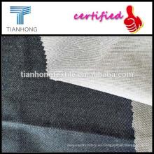 100 hilo de algodón teñido hilado del spandex de la tela/tela cruzada chambray teñido tela/imitación de telas de mezclilla