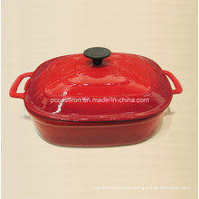 Square Enamel Cast Iron Cocotte Casserole China Factory Size