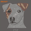 Bull Terrier Crystal Dog Hot Fix motivo de strass