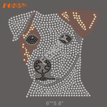 Hot Fix Customized Dog Motifs Rhinestone Heat Transfers