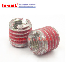 Screwlocking External Thread Insert Nut Slotted for Aluminium Light Alloy