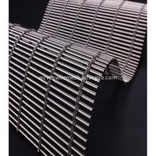 Woven wire mesh drapery