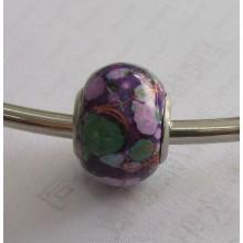 Purple Pandora Hematite Beads