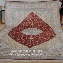 9'x12' Hand Knotted Oriental Persian Silk Carpet Online
