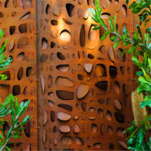 Custom Made Laser Cut Corten Steel Screen
