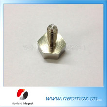 Hexagonal Pot Magnet With Male Thread