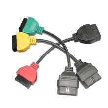 para FIAT ECU exploración adaptadores OBD diagnóstico Cable de tres colores