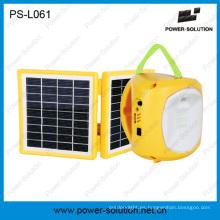 Mini linterna solar con cargador de teléfono móvil para acampar o emergencia (PS-L061)