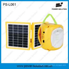 Mini lanterna solar com carregador de celular para acampar ou de emergência (PS-L061)
