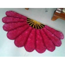 Soft 3D Thretch Silk Fan-Shaped Carpet Rug Door Mat