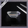 Excelente corte atacado octagon forma esmeralda corte alta qualidade moissanite