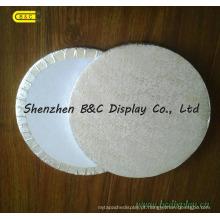 Cilindro ondulado gravado prata das placas do bolo da folha