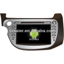 Multimídia estéreo do carro sistema Android para Honda Fit / Jazz com GPS / Bluetooth / TV / 3G / WIFI