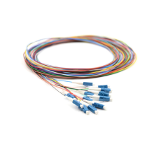 LC SM Colored 12 core Fiber Optic  Pigtail