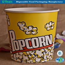 Movie Popcorn Bowl Container balde de banheira de papel
