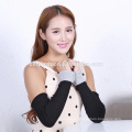 2016 new design elbow length winter fingerless 100% cashmere gloves wholesale knitting pattern
