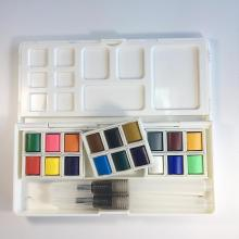 Manufactory wholesale solid watercolor paint set with brush pen