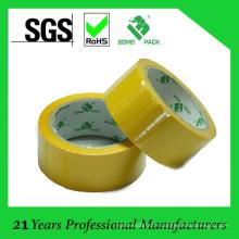Ruban d'emballage BOPP jaune coloré de vente chaude