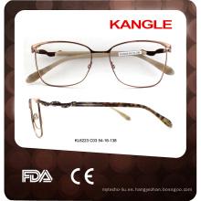 2017 nuevas gafas de metal del marco óptico más calientes del marco de las gafas del metal del estilo