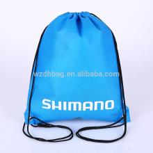 La bolsa de asas no tejida al por mayor de la venta del bolso de la mochila del cordón de la venta caliente reutilizable de encargo de la venta nueva