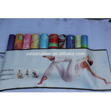 Combo Yoga Matte mit integriertem Handtuch Best Non Slip Eco freundlich, Hatha, Fitness Übung