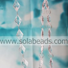 Winter 9*21*34mm  Crystal Beading Chain Trim
