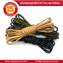 Colorful reflective string for shoes