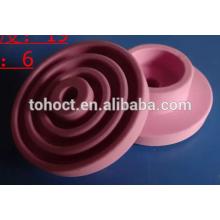 anel cerâmico cor-de-rosa amarelo branco da zircônia da alumina da cor preta