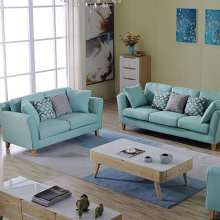 Reversible Fabric Pillow Sectional Sofa Chaise