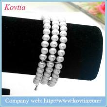 Famoso pulseira cadeia de cadeia robusta pulseira de imitação de pérolas pulseira atacado atacado jóias