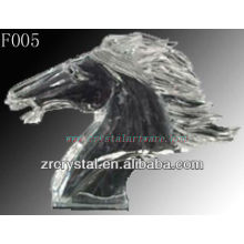 K9 Crystal Hand Sculpted Horse Head