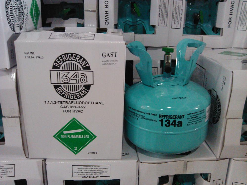Refrigerant R134A 3KG packing for 7.5 lb cylinders