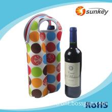Neoprene 2-bottle Wine Carrier Tote Wine / Water Sleeve Bag Holder for Travel Picnic Party