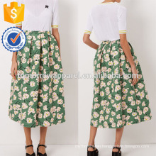 New Fashion Green Print Full Summer Mini Daily Skirt DEM/DOM Manufacture Wholesale Fashion Women Apparel (TA5026S)
