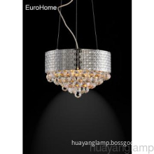Fancy Crystal Chrome  Pendant  Lamp for Hotel Project