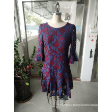 Spring Elegant Lace Flower Ladies Dress