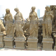 Carving Antique Garden Stone Statue with Four Season Sculpture (SY-X1703)