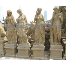 Escultura antiga estátua de pedra do jardim com escultura de quatro estações (SY-X1703)