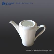 Glaze Bone China Eco-friendly em branco Branco fino pote de café de cerâmica