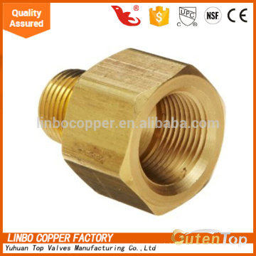 """LB-GutenTop Brass Pipe and Welding Fitting, Threaded Reducer Adapter, 3/4"""" NPTF Female x 1/2"""" NPT Male welding connector"""