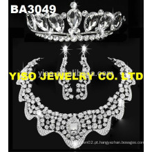 Conjunto de jóias de casamento de moda elegante